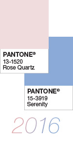 Culoarea anului 2016 - Rose quartz si Serenity